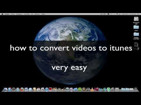 How To Convert Videos To iTunes iPod iPhone iPad on Mac