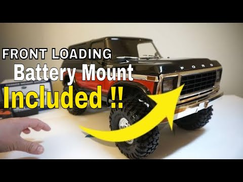 Trx4 Bronco Surprise !  Front Loading Battery Mount Included!