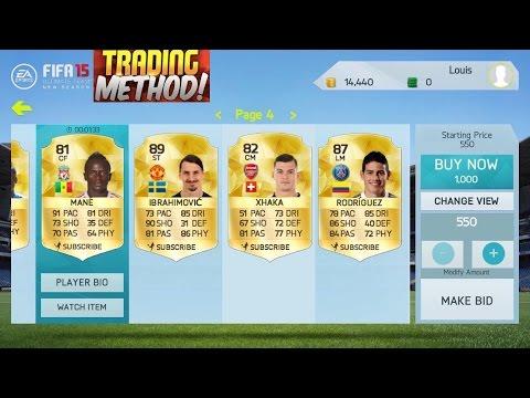 FIFA 15 IOS NEW SEASON INSANE TRADING METHOD (SNIPING+BIDDING)