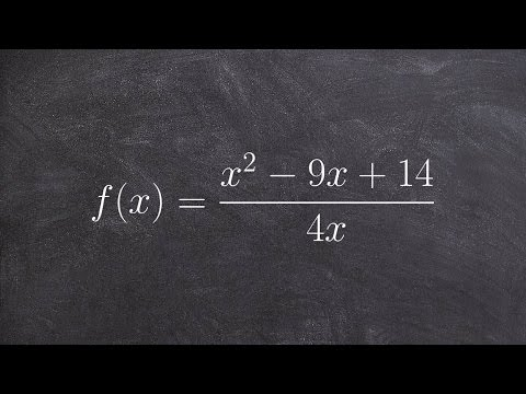 How To find the zeros of a rational function