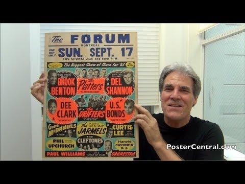 Biggest Show of Stars Window Card 1961 Del Shannon, Platters, Drifters