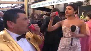Guillermo on the 2016 Oscars Red Carpet   Priyanka Chopra