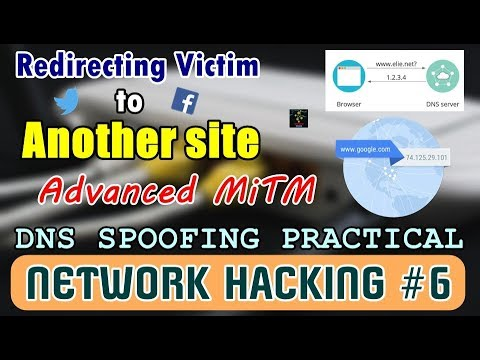 [HINDI] Spoofing DNS Servers | Redirecting Victim to Other Sites | DNS Spoofing Practical