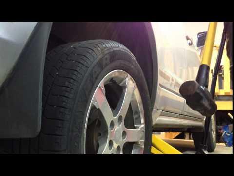How to Remove a Rusted, Stuck Wheel When Changing Summer to Winter Tires – Sledge Hammer!