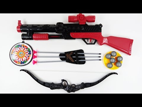 Toy Gun Military Set Bow and Arrow Set for Kids and Children   Lets Hunt Deer and Egret in Forest!
