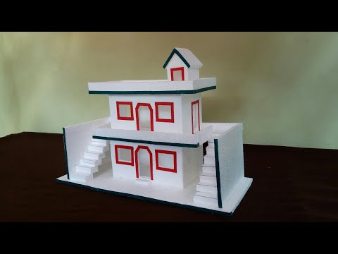 How To Make Thermocol House | DIY- Thermocol House | Thermocol Craft For School Project | Mini House