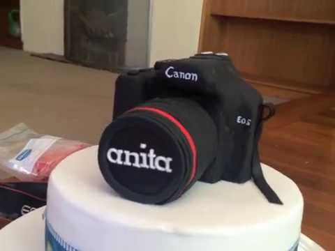 How to make a camera cake part 2