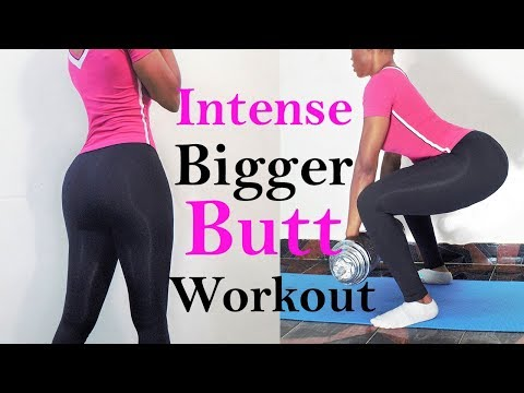 Intense bigger butt workouts(with only dumbbell )how to get a bigger buttocks with exercise at home