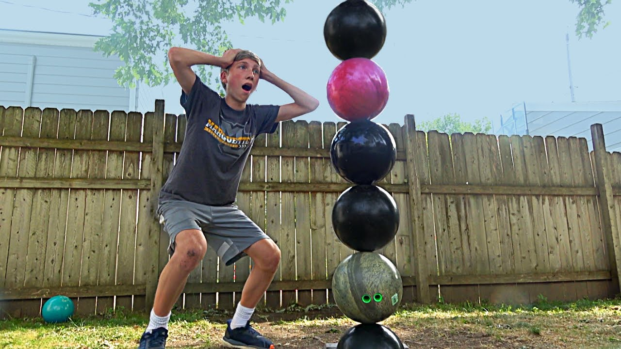 Stacking Bowling Balls Challenge | That's Amazing