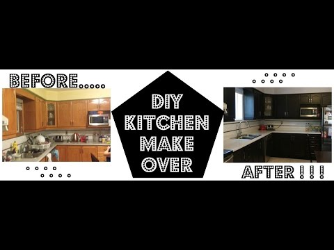 DIY STAINING KITCHEN CABINETS ( WOOD STAIN)