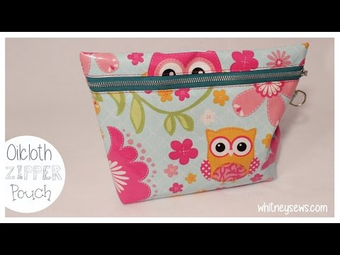 Oilcloth Zipper Pouch with Strap | How to - Whitney Sews