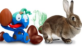 Stop Tiny From Eating Easter Eggs - Funny Moment Stop Motion Animation Cartoons