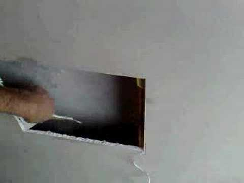 Step. 1 How to patch a hole in plasterboard