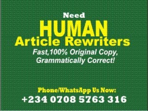 WE REWRITE ARTICLES PROFESSIONALLY