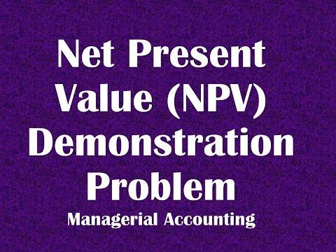 Net Present Value NPV Demonstration Problem