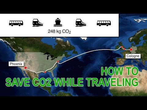 How much CO2 can I save by traveling on a container ship?
