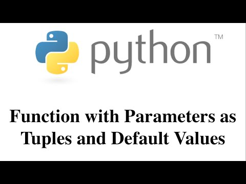 Function with Parameters as Tuples and Default Values [HD 1080p]