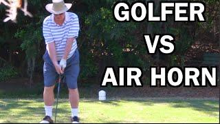 BEST GHILLIE SUIT GOLF COURSE AIR HORN PRANK EVER!!   JOOGSQUAD PPJT