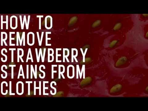 Handy: How to remove strawberry stains from clothes.