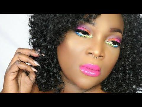 Spring Makeup Look for Dark Skin