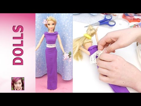 How to make dresses from Rapunzel's Fashion Show Part 1 - Super Easy! No Sew! No Glue!