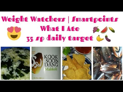 Weight Watchers Smartpoints | What I Ate | 35 SmartPoints Daily Target