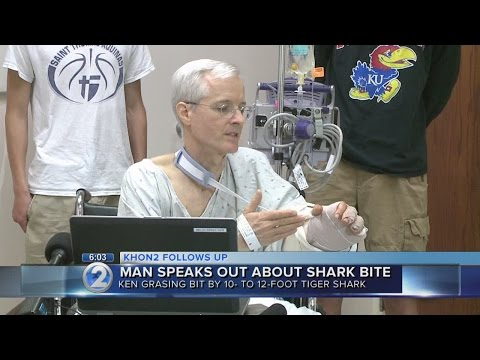 Shark bite victim describes attack at Hapuna Beach