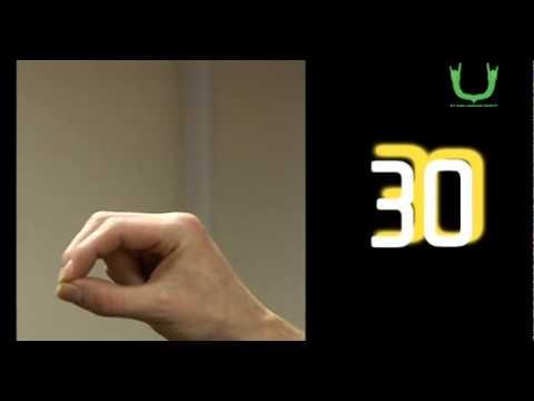 Numbers 20 to 100 in Irish Sign Language (ISL)