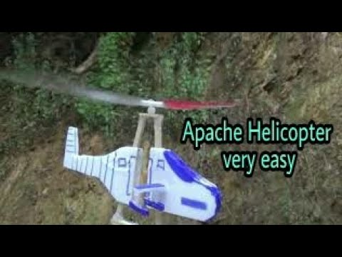 APACHE helicopters / how to build a helicopter flying with rubber bands - very easy [newcd]