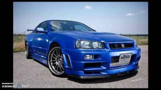 TOP 10 FAST AND FURIOUS CARS [ PAUL WALKER]