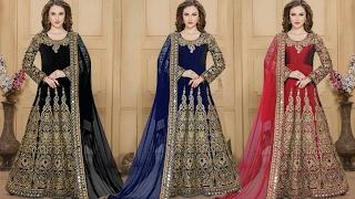 Party Wear Anarkali Suits Designs | Long Indian Designer Anarkalis Gown Dresses 💝 DesignersAndYou