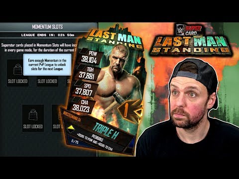 INSANELY EASY MOMENTUM TRICK TO HELP WITH LAST MAN STANDING - WWE SuperCard Season 4