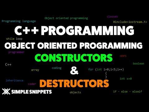 Constructors & Destructors in C++ Programming | Object Oriented Programming Concepts