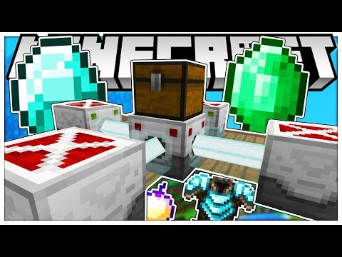 THIS IS SO OVER POWERED *BRAND NEW UPDATE* - MINECRAFT GOLD RUSH MINIGAME - MODDED MINECRAFT 1.12.2