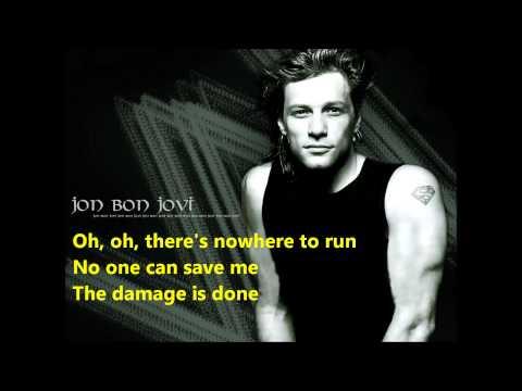 Jon Bon Jovi  - You Give Love a Bad Name (Lyrics)