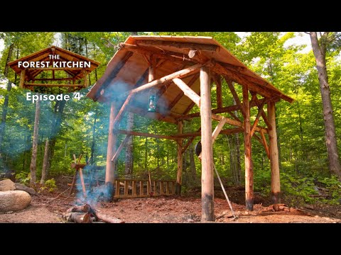 The Forest Kitchen at the Off Grid Log Cabin Build, Ep 4: She Digs It