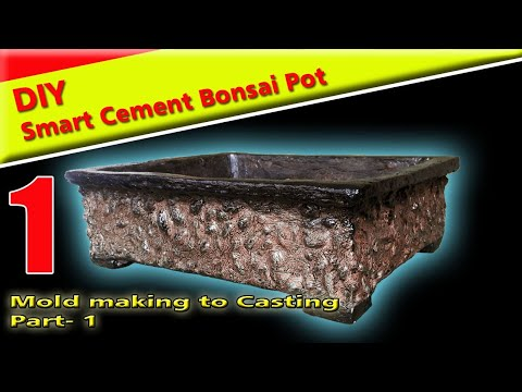 Diy Smart Cement  Bonsai Pot from Mold Making to Moulding Part 1