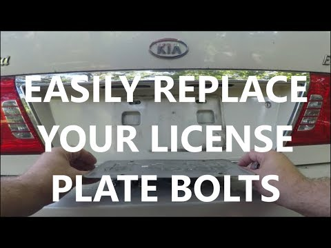 How To Replace License Plate Bolts - 2004 KIA Optima