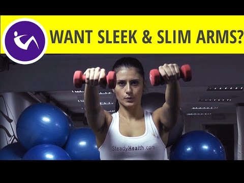 Exercises for sleek & slim arms and toned shoulders