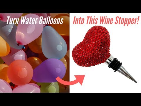 DIY Heart Wine Stopper Made Out of Balloons!