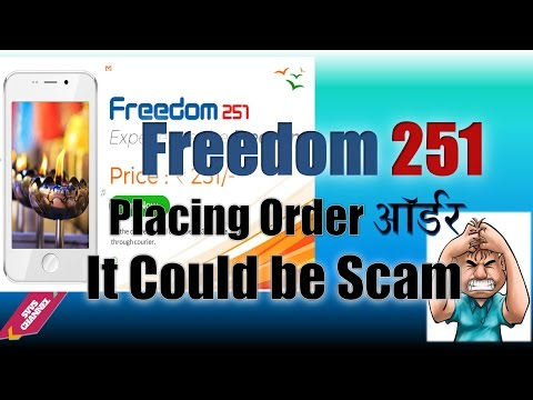 Letest Update:-How to Order Freedom 251 Mobile/Why It could be Scam-Hindi Review Tutorial