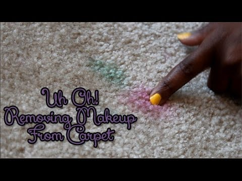 Removing Eyeshadow from Carpet