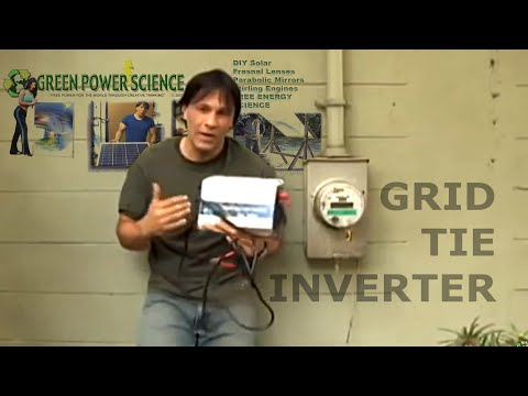 GRID TIE INVERTER SOLAR panel POWER EASY Electricity Savings
