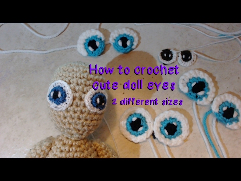 Cute Doll Eyes Crochet Tutorial