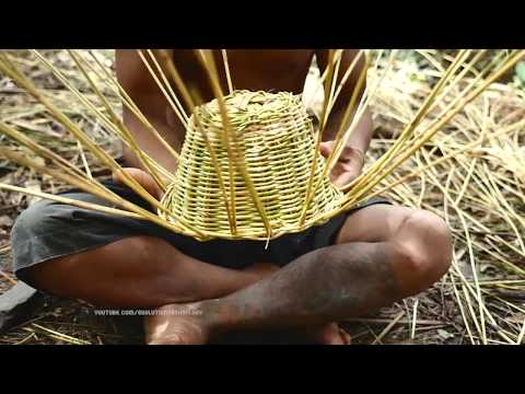 Primitive Technology, How Make hat from vine
