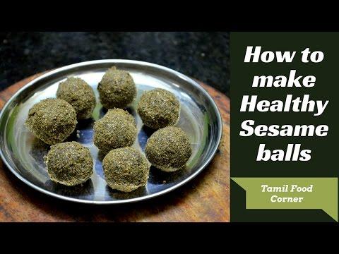 Ellu Urundai Recipe in Tamil| sesame seeds balls | How to make ellu urundai