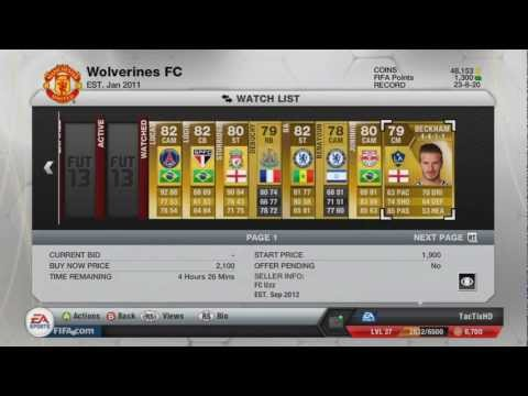 FIFA 13 UT | January 8 Transfer Player's Stats and Prices | TacTixHD
