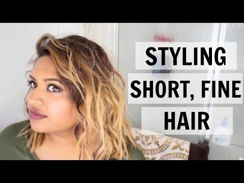 How to Style Short Fine Hair: Messy Curls