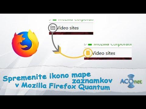 Kako spremeniti ikono mape zaznamkov v Firefox Quantum spletnem brskalniku?