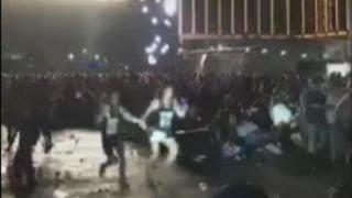 Graphic content: Chaos as gunfire rakes Las Vegas concert